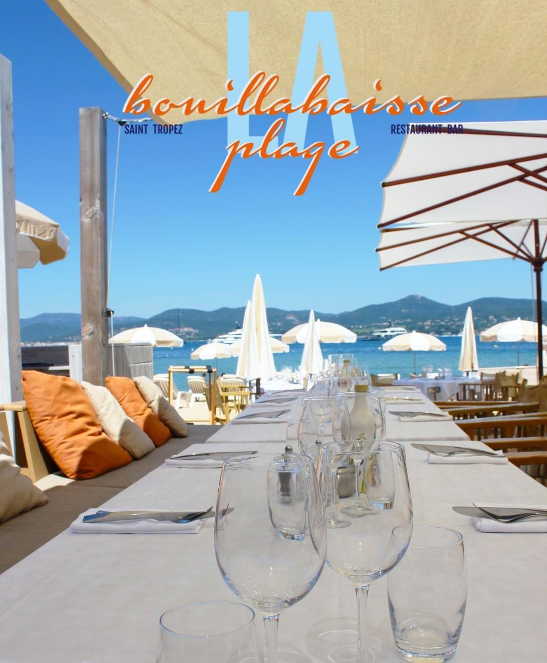 Bouillabaisse restaurant plage saint tropez
